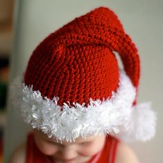Crochet Santa hat ok this is the best one i've seen!