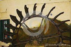 The famous and ancient mill in Treviso city, near the fish market, in Veneto, Italy. Treviso Italy, The Fish Market, Superhero Logos, Stock Photos, City, Cities