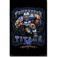 Tennessee Titans NFL (Mascot, Grinding It Out since 1960) Sports Poster Print NEW FREE SHIPPING