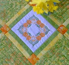 quilts with embroidered blocks | If you liked this design, you might also like: