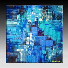 The painting was created on Artist canvas with 100 % acid-free cotton and it was mounted on 1.6 inch DEEP support frame. An highest quality artist canvas made in Canada. NO FRAME NEEDED READY TO HANG. ( Click two times on the image to get a large view).   TITLE: DIMENSIONAL SYNTHESIS SIZE: 30 x 30 x 1.6 (Deep Canvas)   SHIPPING Shipping is via Canada-Post-Expedited Parcel. Transit time will take 3-6 business days to most locations in Canada And 6-9 business days to most locations in USA…