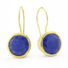 Betty Carre' Created Sapphire Drop Earrings 18K Gold Clad Betty Carre. $59.00