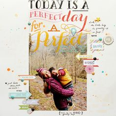 #papercraft #scrapbook #layout. a perfect day by moonlee at @studio_calico