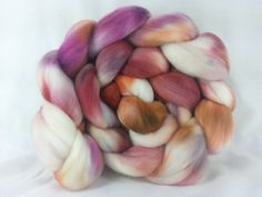 hand+dyed+19+micron+Merino+Wool+Roving+Combed+Top+by+PunkNSparkle,+$17.00