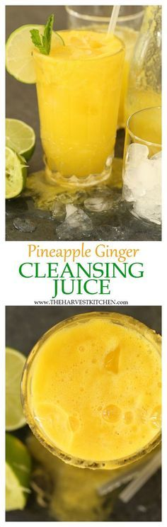 This Pineapple Ginger Cleansing Juice is rich in antioxidants and helps to aid digestion and gently cleanse and alkalize the body detox drink liver cleanse pineapple ginger detox drink healthy recipes Click the image for more info. Healthy Detox, Healthy Juices, Healthy Smoothies, Healthy Drinks, Smoothie Recipes, Healthy Recipes, Detox Juices, Healthy Water, Easy Detox