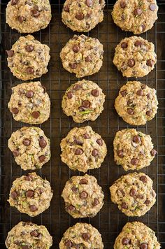 Zucchini Oatmeal Chocolate Chip Cookies - Cooking Classy ( I added, craisens, unsweetened coconut, and some almond flour) Zuchinni Recipes, Veggie Recipes, Sweet Recipes, Baking Recipes, Dessert Recipes, Party Recipes, Summer Recipes, Cookie Recipes, Zucchini Chocolate Chip Cookies