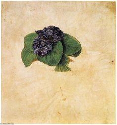 Acheter Tableau 'violette bouquet' de Albrecht Durer - Achat d'une reproduction sur toile peinte à la main , Reproduction peinture, copie de tableau, reproduction d'oeuvres d'art sur toile