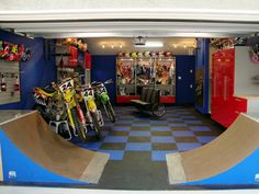 Incredible Garage Transformations I think this is more of a teens cave then a mans cave