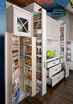 Brilliant for a small kitchen - don´t know if you can buy it, or you have to do some DIY