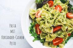Pasta mit Koriander-Cashew Pesto (vegan)