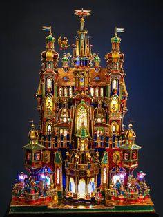 .Polish traditional Christmas Nativity. Made with shiney foil and cardboard