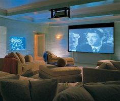 Home Theaters : Architectural Digest - Home Theater Design At Home Movie Theater, Home Theater Setup, Home Theater Speakers, Home Theater Rooms, Home Theater Seating, Home Theater Projectors, Cinema Room, Home Theater Design, Mermaid Room