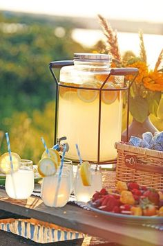Lemonade on a hot summer day