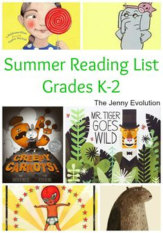 Summer Reading List for Kids in Kindergarten, 1st Grade and 2nd Grade   The Jenny Evolution