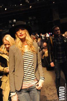 womensweardaily:      Poppy Delevingne Front Row at Rag & Bone