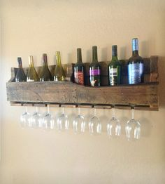 large reclaimed wood wine rack, dark finish by del hutson My Home Design, House Design, Wood Wine Racks, Wood Rack, In Vino Veritas, Shabby, Home Projects, Pallet Projects, Decoration