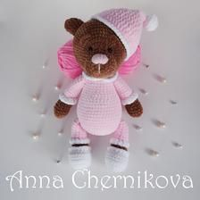 PDF schemes and descriptions for crochet knitting toys! Crochet Teddy, Crochet Bear, Crochet Motif, Crochet For Kids, Crochet Dolls, Crochet Patterns, Amigurumi Doll Pattern, Quilted Ornaments, Handmade Toys