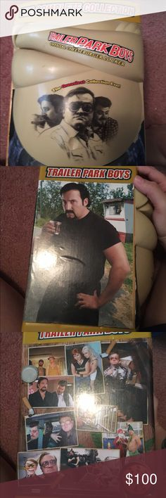 Traded The trailer park boys The complete collection cheeseburger locker watched a lot so funny no scratches that I know of they all play in great condition trailer park boys Other