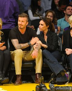 David & Victoria Beckham In Touch Weekly reported in 2010 that David Beckham carried on an affair with a former prostitute. David sued In Touch for defamation and the lawsuit was thrown out. Victoria And David, David And Victoria Beckham, Victoria Beckham Style, David Beckham Family, David Beckham Style, Celebrity Couples, Celebrity Style, Jolie Pitt, Beautiful Couple