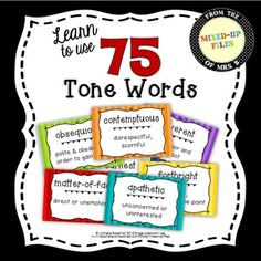 Word Walls for middle and high school? You bet!Teach students to analyze the tone of a text and to describe the tone with precise adjectives in class discussions or in their writing with this colorful and informative display.After you introduce a term in class, your students will refer to the word wall as a visual cue when using the words in class discussion or in written analysis.