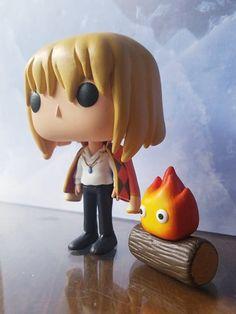 Howl & Calcifer (Howl's Moving Castle) – Custom Funko POP Figures – Decor is art Otaku, Funko Pop Anime, Custom Funko Pop, Anime Crafts, Studio Ghibli Movies, Howls Moving Castle, Funko Pop Figures, Hayao Miyazaki, Totoro