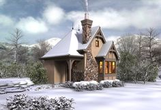 This classic storybook European cottage house plan would make the perfect stocking stuffer. You can easily add this quaint design to your existing property  or build the perfect getaway in the woods. http://www.thehousedesigners.com/plan/storybook-5194/