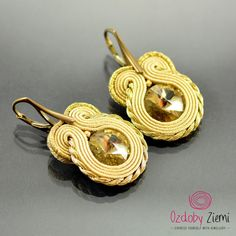 Soutache Earrings Titik Krim Dangle Earrings by OzdobyZiemi #OzdobyZiemi #souatche #soutacheearrings #soutachejewelry #handmadegift