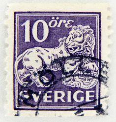 most beautiful stamps world | beautiful stamp Sweden 10 öre Sverige postage lion Briefmarke ...