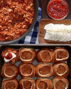 Cheesy Chicken Parmesan-Stuffed Rolls
