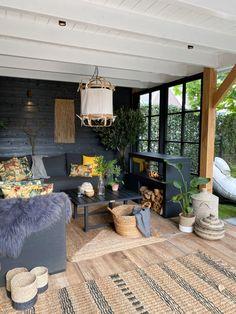 Outdoor Garden Rooms, Pergola Garden, Backyard Gazebo, Backyard Patio Designs, Backyard Retreat, Outdoor Living Areas, Outdoor Spaces, Fireplace Garden, House Extension Design