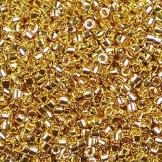 Miyuki size x hole) Delica Gold-Plated glass cylinder seed beads, color number DB A beautiful luxury bead, plated with real gold, with a shiny metallic finish. Metal Beads, Jewelry Supplies, Precious Metals, Seed Beads, Plating, Metallic, Number, Luxury, Bag