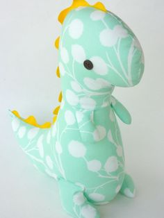 Adorable DIY dinosaur.