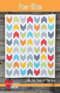 Pow Wow by Cluck Cluck Sew - simple modern pattern for all of the 1/4 yards hanging around