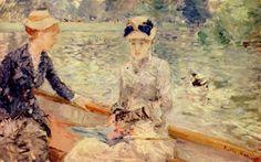 Berthe Morisot.  Sonntag.1879, Öl auf Leinwand, 44 × 73cm. London, Tate Gallery.Landschaftsmalerei.Frankreich.Impressionismus.  KO 00634