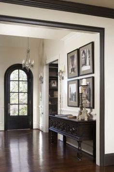 black trim, black door