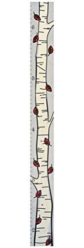 The Mod Birch Tree Growth Chart Modern Height Chart - Single Birch Growth Chart… Growth Chart Ruler, Growth Charts, Measuring Kids Height, Height Ruler, Puzzle Frame, Wooden Ruler, Auction Projects, Height Chart, Charts For Kids