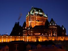 The beautiful Chateau Frontenac, where we started our lives together!