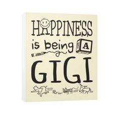 Happy Gigi ~ Vertical Canvas