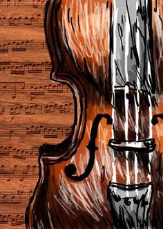 violin artwork | violin by lenleg digital art drawings paintings still life 2013 lenleg ...