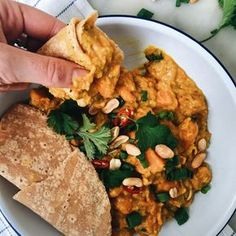 SWEET POTATO, PEANUT AND RED LENTIL CURRY