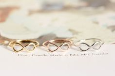 infinity rings for me and my dos best amigas
