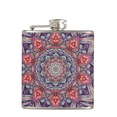 Pink and purple kaleidoscope tile 99.