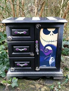 Nightmare Before Christmas dresser. I love this. So well put together and would look great in my bedroom.