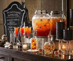 Dark & Stormy Halloween Punch - Pottery Barn #Makepotterypersonal