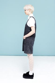 Denim Pinafore Dress Black - THE WHITEPEPPER http://www.thewhitepepper.com/collections/dresses/products/denim-pinafore-dress-black