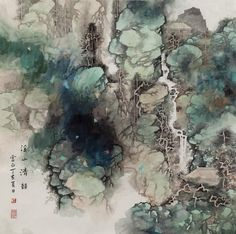 Traditional Chinese Painting | The Blind Swimmer
