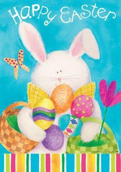 Happy Easter Bunny Egg Double Sided House Flag 28 x 40 Custom Decor http://www.amazon.com/dp/B00H9EOK92/ref=cm_sw_r_pi_dp_Yxp.ub13PXEYD