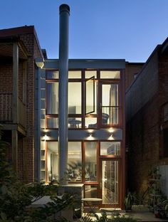 Outside row house on pinterest traditional exterior for Row house exterior design ideas