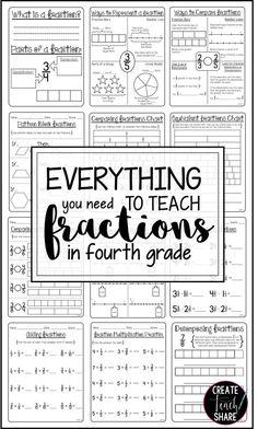 498 Best 4th Grade Math Manipulatives Images On Pinterest