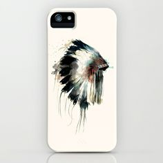 Headdress+iPhone+&+iPod+Case+by+Amy+Hamilton+-+$35.00